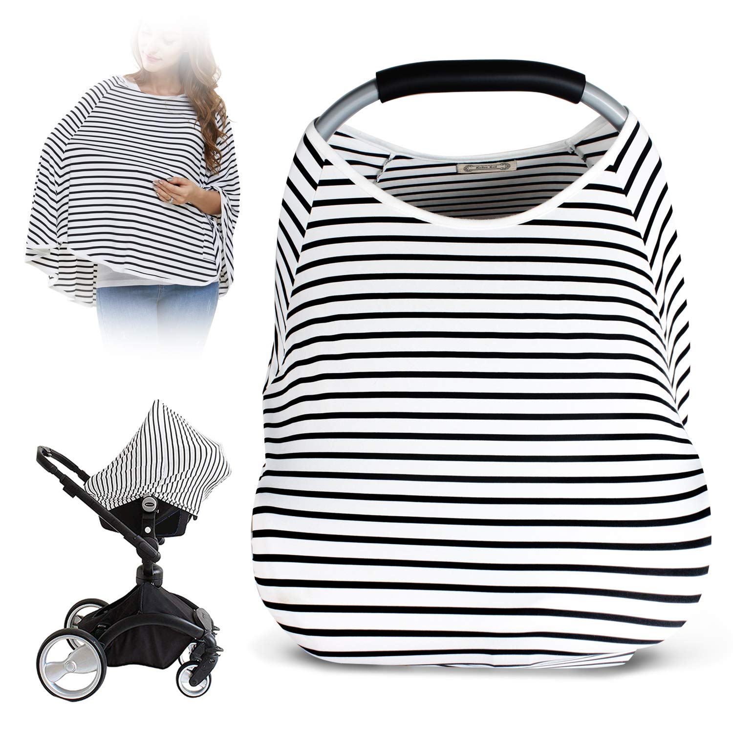 Nursing Cover &Breastfeeding Cover -Breastfeeding Scarf, Baby Car Seat Covers, Infant Stroller Cover, Carseat Canopy for Girls and Boys
