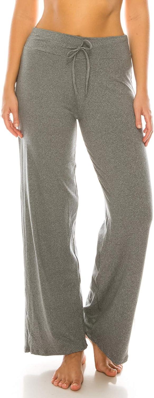 Women's Buttery Soft Casual Comfy Wide Leg Pajama Lounge Pants Sleepwear