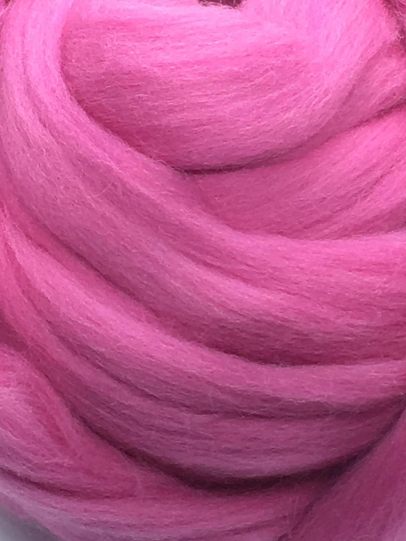 Bubble Gum Pink Wool Sale Top Roving Spinning wholesale U Felting Fiber Crafts