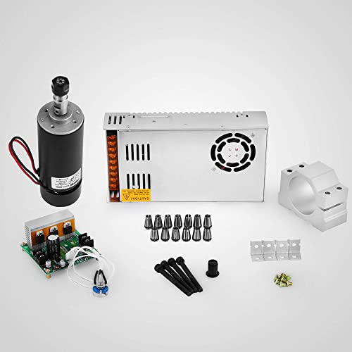 discount Mophorn 400W outlet sale DC Spindle Motor with Switching Power Supply and CNC Mach3 outlet online sale PWM controller and 13 Pcs ER11 Collet s for CNC Machine sale