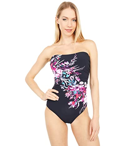 Gottex Cherry Blossom Bandeau One-Piece Essentials (Multi) Women