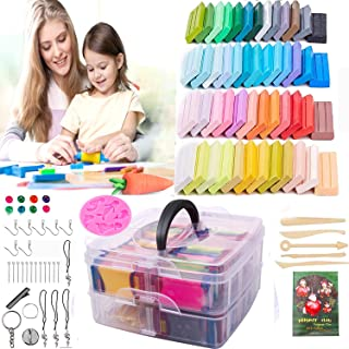 SHUMAZ Polymer Clay - Oven Bake Clay 50 Colors DIY Colored Clay Kit with Clay Set with Sculpting Tools Jewellry Accessorie...