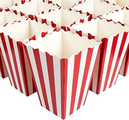 precioso Juego de 100 cajas de regalo de palomitas de de de maíz, ideales para noches de cine, fiestas temáticas de películas, fiestas de carnaval, fiesta pirata, 9,4 x 19,8 x 9,4 cm, Color rojo y blanco  la mejor oferta de tienda online