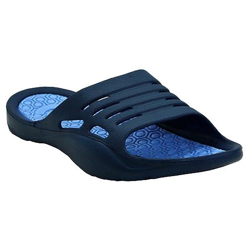 68a11ecc1 Womens Ladies Lightweight Slip On EVA Peep Toe Girls Summer Beach Pool  Sliders Flip Flops Casual