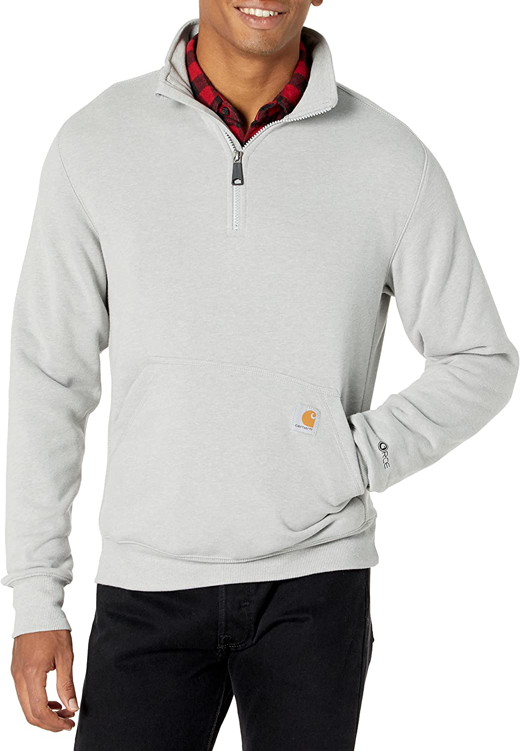 Carhartt Columbus Mall Men's Beauty products Force Relaxed Quarter-Zip Fit Mock-Neck Midweight