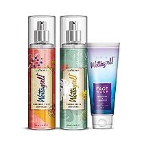 Layer'r Wottagirl Mandarin Twist Body Splash For women 135ml with Tuscan Green Body Splash For women 135ml & Get Wottagirl Face Wash 100ml