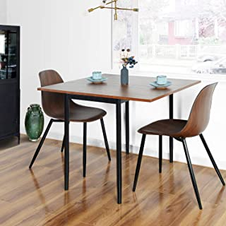 HOMY CASA Wooden Adjustable Dining Tabletop with Metal...
