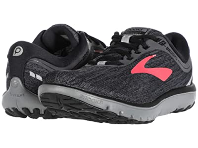 Brooks PureFlow 7 (Black/Ebony/Teaberry) Women
