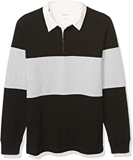 Amazon Brand - Goodthreads Men's Long-Sleeve Striped Rugby