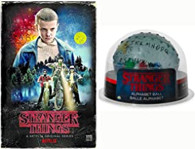 Contact the Upside Down... Stranger Things Exclusive Bundle: Ultra-Collectible Stranger Things Squeeze And Stretch Alphabet Ball! + Exclusive VHS Set Season 1 Special Edition Retro Package (2 - Pack)