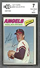 1977 topps #650 NOLAN RYAN california angels BGS BCCG 7 Graded Card