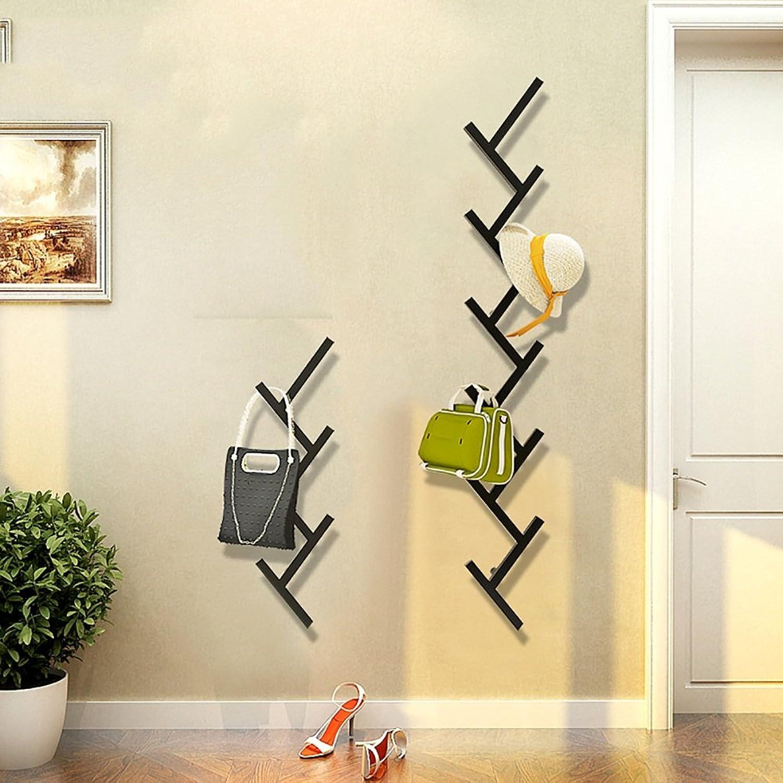 LJHA yimaojia Creative Modern Wall Coat Rack Fashion Wall-Mounted Bedroom Living Room Hanger 79  21cm Coat Hangers (color   Black)