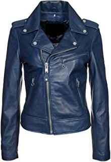 Best blue leather motorcycle jacket womens Reviews