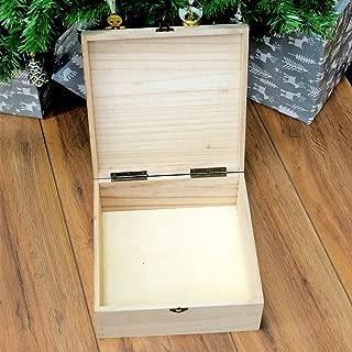 Colorzonesd Christmas Maple Wooden Box Gift Box Push-Pull Packing Box Ring Jewelry Box (C)
