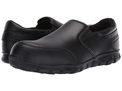 Reebok Work Sublite Cushion Work Comp Toe ESD Slip On (Black) Men
