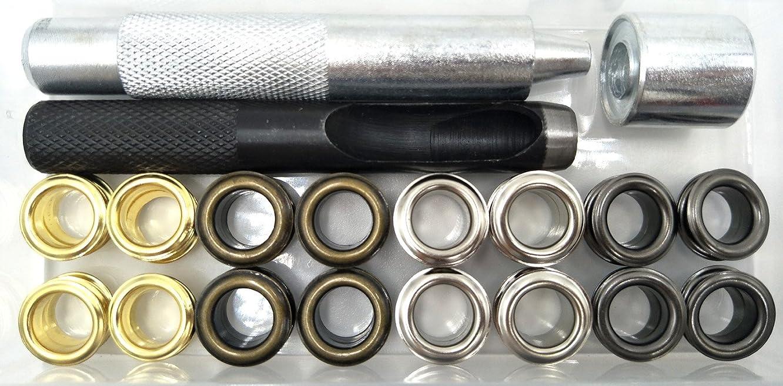Inton 200 Sets - Grommet Eyelets 8mm 5/16