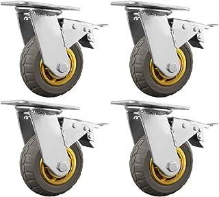 LYQQQQ 4 stks Heavy Duty Casters, Geen Noise Swivel Castor Wielen, Flatbed Truck Hand Trolley Industriële Wiel (Kleur: C, ...