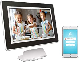 PhotoSpring (16GB) 10 inch WiFi Cloud Digital Picture Frame – Battery, Touch..
