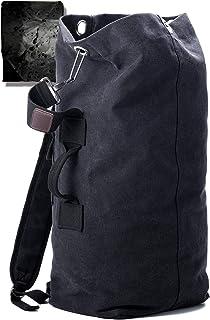 KIRIRU【ドカッと入る】 メンズ リュック 帆布 [ 防水 レインカバー 付属/大開口式 バックパック ]キャンバス シンプル 大容量 ミリタリー アウトドア [ 20L 30L グリーン ベージュ ダークネイビー 3色 ]