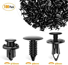 GOOACC GRC-18 100PCS 7mm 8mm 10mm Nylon Push Expansion Screws Replacement Kit,Bumper Fastener Rivet Clips GM 21030249 Ford N807389S