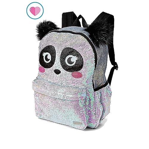 cf28b59002c5 Justice Sparkle Panda Flip Sequin School Backpack