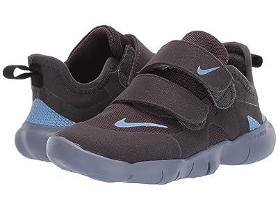 Nike Kids Free RN 5.0 (Infant/Toddler) (Thunder Grey/Light Blue/Stellar Indigo) Kids Shoes
