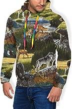 Pullover Hoodie Hooded Plus Velvet Thick Sweatshirt for Boys Mens, Winter Tops