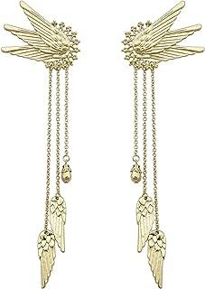 1Pair Fairy Elf Pixie Angel Wing Long Tassels Ear Cuffs Clips Cosplay Earrings