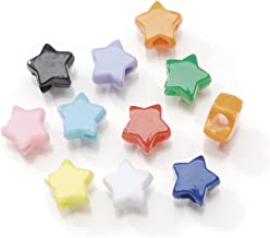Darice Assorted Star Pony Beads – Great Craft Projects for All Ages – Bead Jewelry, Ornaments, Key Chains, Hair Beading – Star Plastic Bead with Center Hole, 7x12mm Diameter, 1 lb. Bag