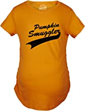 Maternity Pumpkin Smuggler Funny Fall T Shirt Cute Halloween Pregnancy Tee