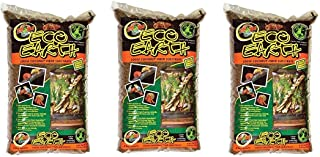 Zoo Med Eco Earth Loose Coconut Fiber Substrate, Pack of 3, 8 Quart