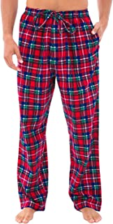 Men's Lightweight Flannel Pajama Pants, Long Cotton Pj...