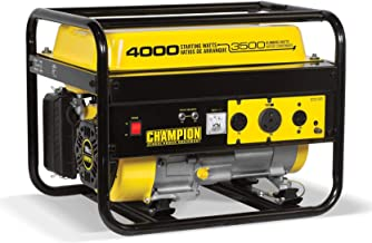 Champion 3500 Watt Portable Quiet Gas Powered Generator + Vinyl Generator Cover
