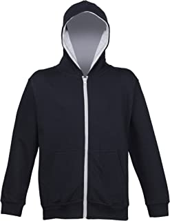 Awdis Kids Unisex Varsity Hooded Sweatshirt/Hoodie/Zoodie/Schoolwear