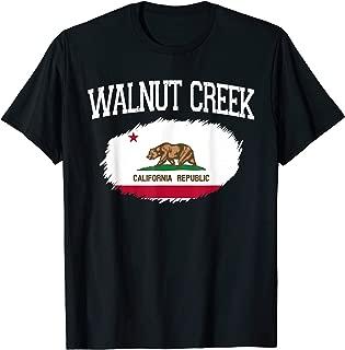 WALNUT CREEK CA CALIFORNIA Flag Vintage USA Sports Men Women T-Shirt