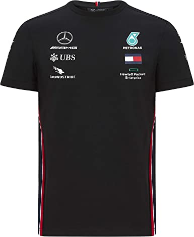 Official Formula one - Mercedes-AMG Petronas Motorsport 2020 - Camiseta de equipo en color negro - L