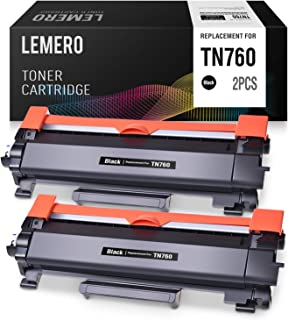 LEMERO Compatible Toner Cartridge Replacement for Brother TN760 TN730 High Yield - use with HL-L2350DW HL-L2395DW DCP-L2550DW MFC-L2710DW MFC-L2750DW (Black, 2 Pack)