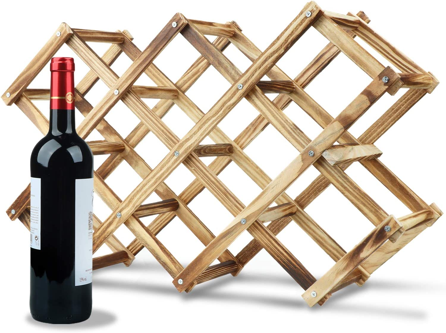HASAGEI San Francisco Mall Wine Rack Countertop Assembled Wooden Holders Stand Easy-to-use
