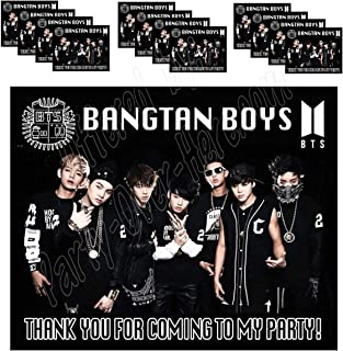 K pop Boy Band Group Army Vest Logo K-Pop Stickers Party Favors Supplies Decorations Gift Bag Label Stickers ONLY 3.75