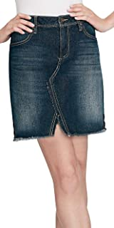 Womens Split Hem High-Rise A-Line Skirt