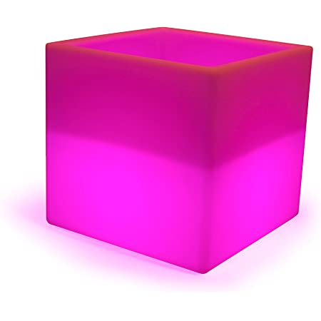 Led Ice Cube Light Cube Box Cube Seat 40 Cm Wireless With Battery Colour Changing Leds And Remote Control Rechargeable Wine Cooler Beleuchtung