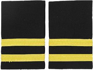 IEFIEL Pilot Uniform Captain Epaulets Officer Shoulder Badge with Gold Bars