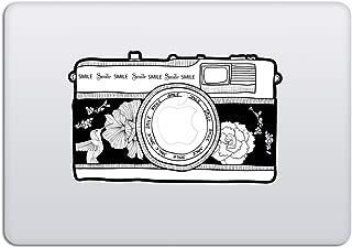 Laptop Stickers MacBook Decal - Removable Vinyl w/Glowing Apple Logo Diecut - Vintage Camera Sticker Black Decal Skin for MacBook Air Pro 13 15 inch Mac Retina - Best Decorative Sticker by Artsybb