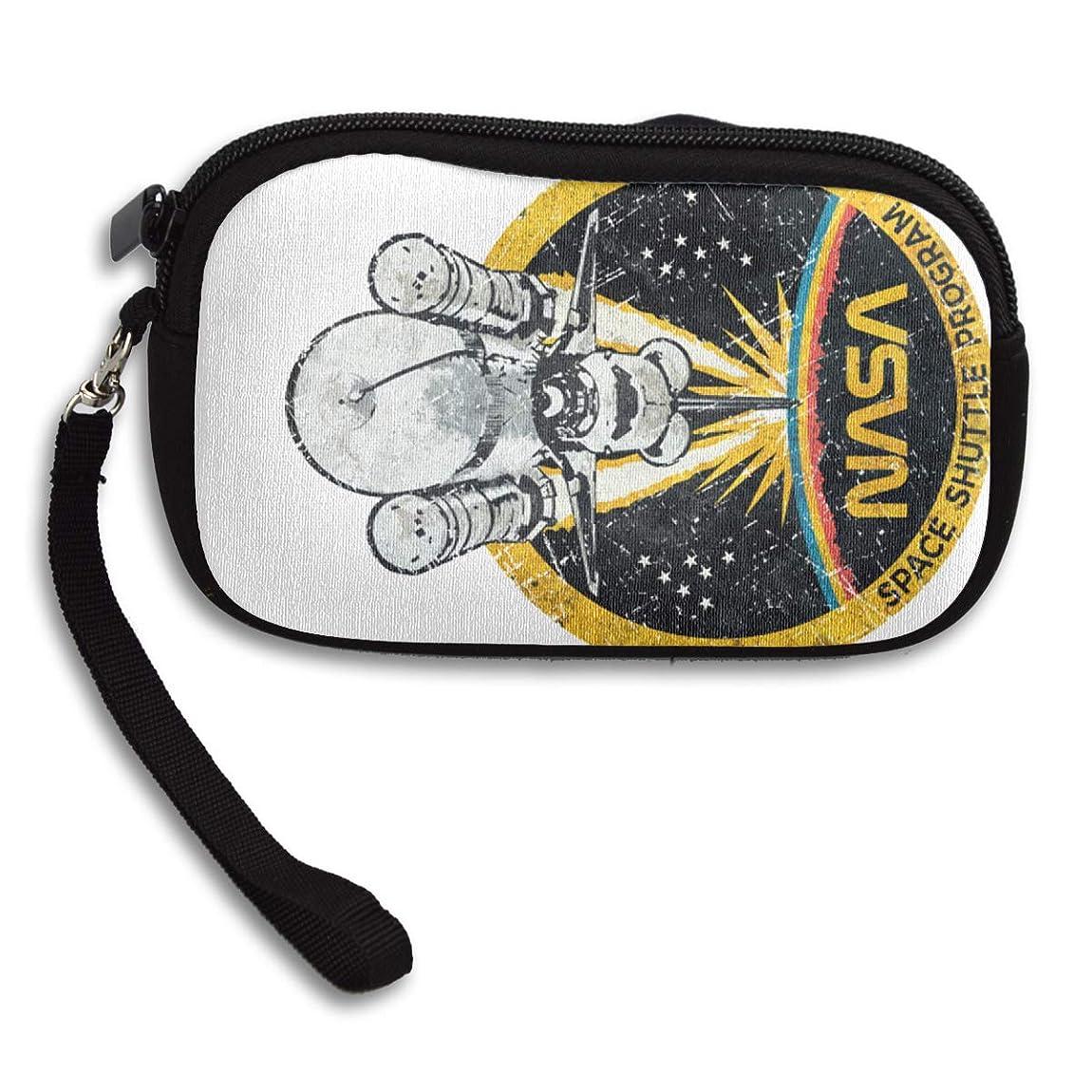 パトロン知恵投げる小銭入れ コインケース 米航空宇宙局のスペースシャトル計画の象徴 携帯用 大容量 ファスナー 財布 カード収納 軽量