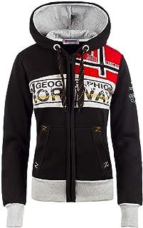 Geographical Norway Sudadera con capucha para mujer.