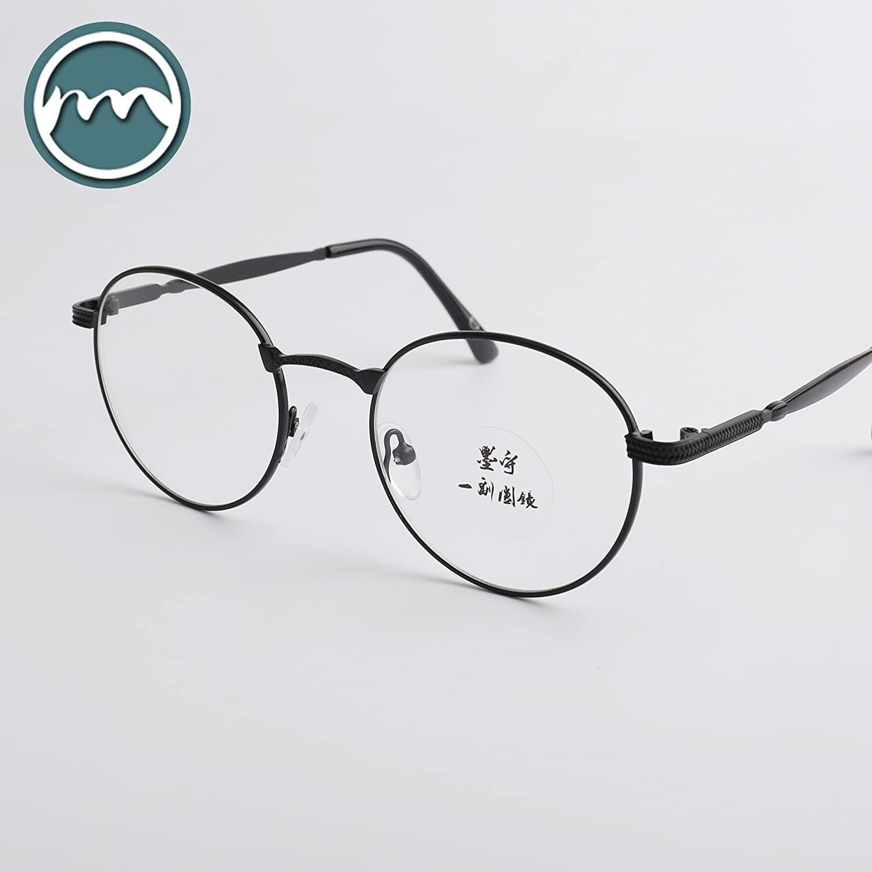 VVIIYJ Art Circle Round Glasses Box Myopia Round Soft Sister Plain Glasses
