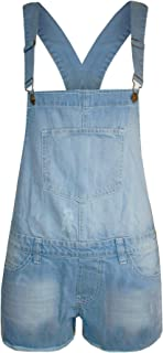 Oops Outlet Women's Baggy Denim Jeans Full Length Pinafore Overall Jumpsuit