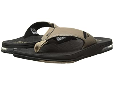 Reef Fanning Low (Black/Tan) Men