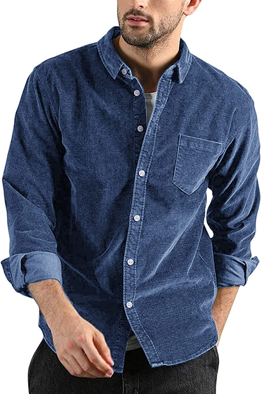 COOFANDY Men's Denim Shirt Casual Classic Long Sleeve Button Down Work Shirt