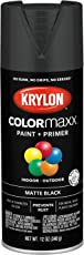 Krylon K05592007 COLORmaxx Spray Paint and Primer for Indoor/Outdoor Use, Matte Black